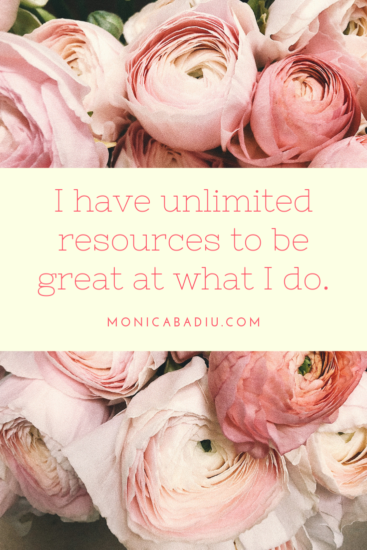 Tuesday Morning Affirmation to Build Confidence - Full list at monicabadiu.com #affirmations #mindset #growth #mentalhealth #success #femaleentrepreneur #positivity #productivity