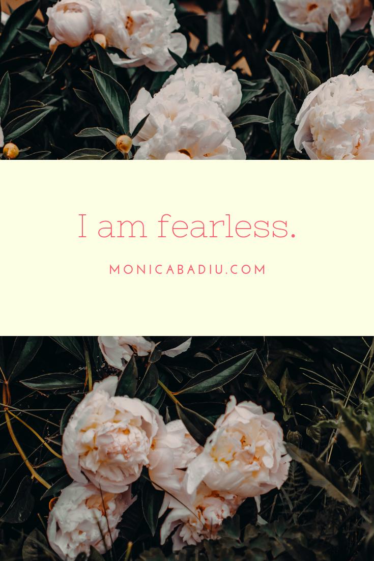 Monday Morning Affirmation to Build Confidence - Full list at monicabadiu.com #affirmations #mindset #growth #mentalhealth #success #femaleentrepreneur #positivity #productivity