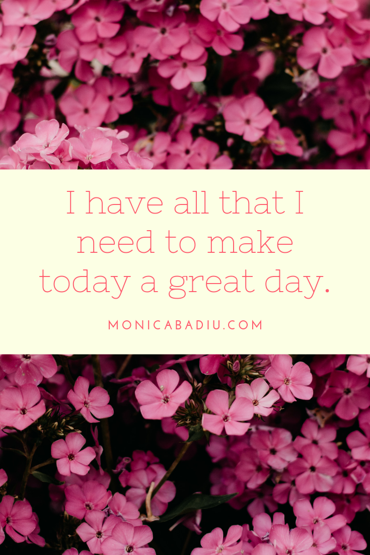 Thursday Morning Affirmation to Build Confidence - Full list at monicabadiu.com #affirmations #mindset #growth #mentalhealth #success #femaleentrepreneur #positivity #productivity