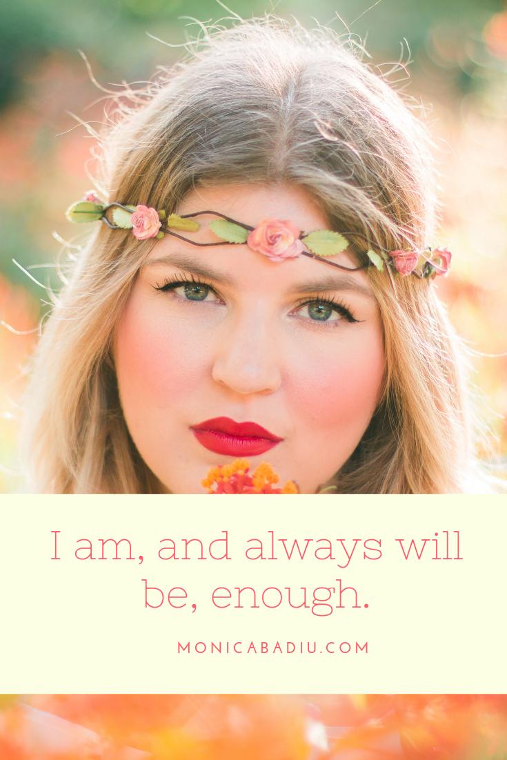 Sunday Morning Affirmation to Build Confidence - Full list at monicabadiu.com #affirmations #mindset #growth #mentalhealth #success #femaleentrepreneur #positivity #productivity