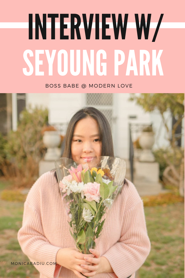 In this Women Rising interview, Seyoung Park, a lovely young entrepreneur based in Portland, Oregon, shares  her entrepreneurial story about creating life, work, and impact on her own terms. Click to read the whole story at monicabadiu.com #entrepreneurship #makingmoney #womeninbusiness #mindsetforsuccess