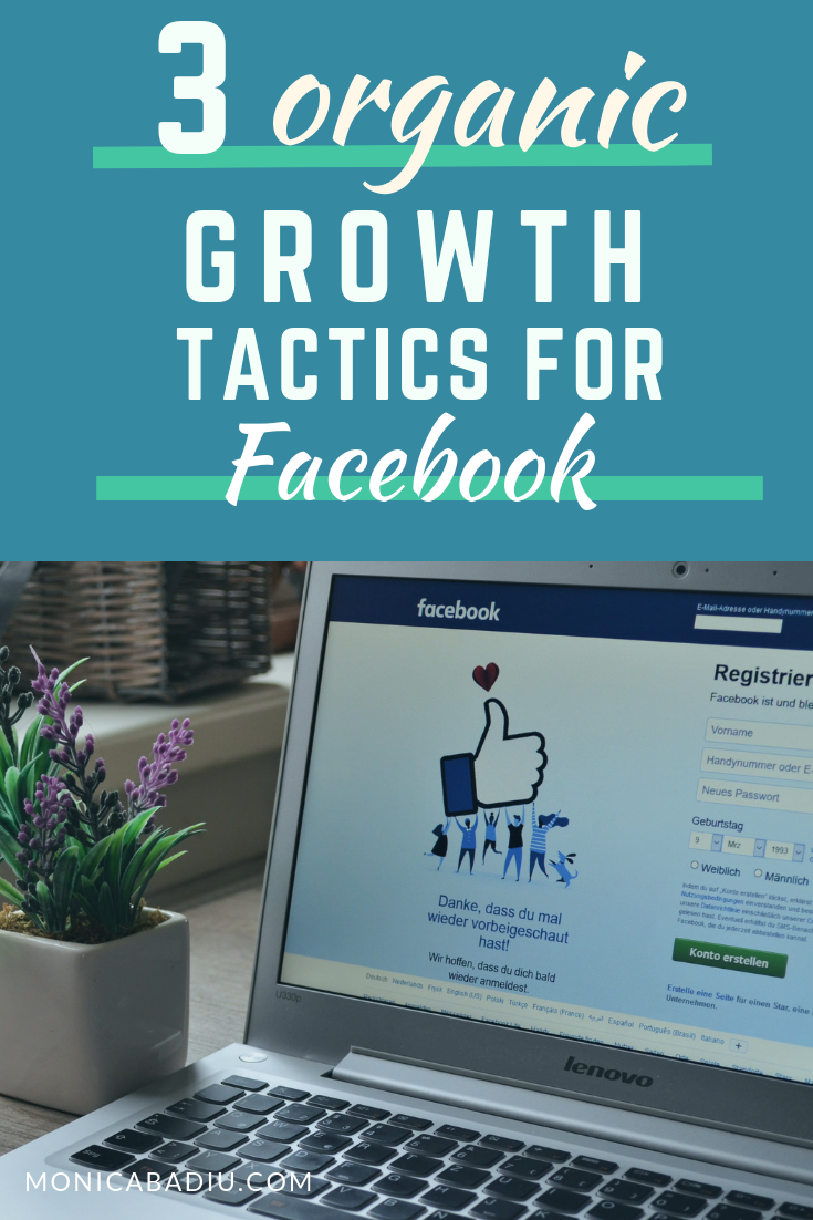 Worried about low organic reach on Facebook? Here are 3 organic growth tactics to help you boost your visibility on Facebook via monicabadiu.com #visibilitycoach #marketingtips #facebookmarketing #makingmoney #digitalmarketing #onlinemarketing