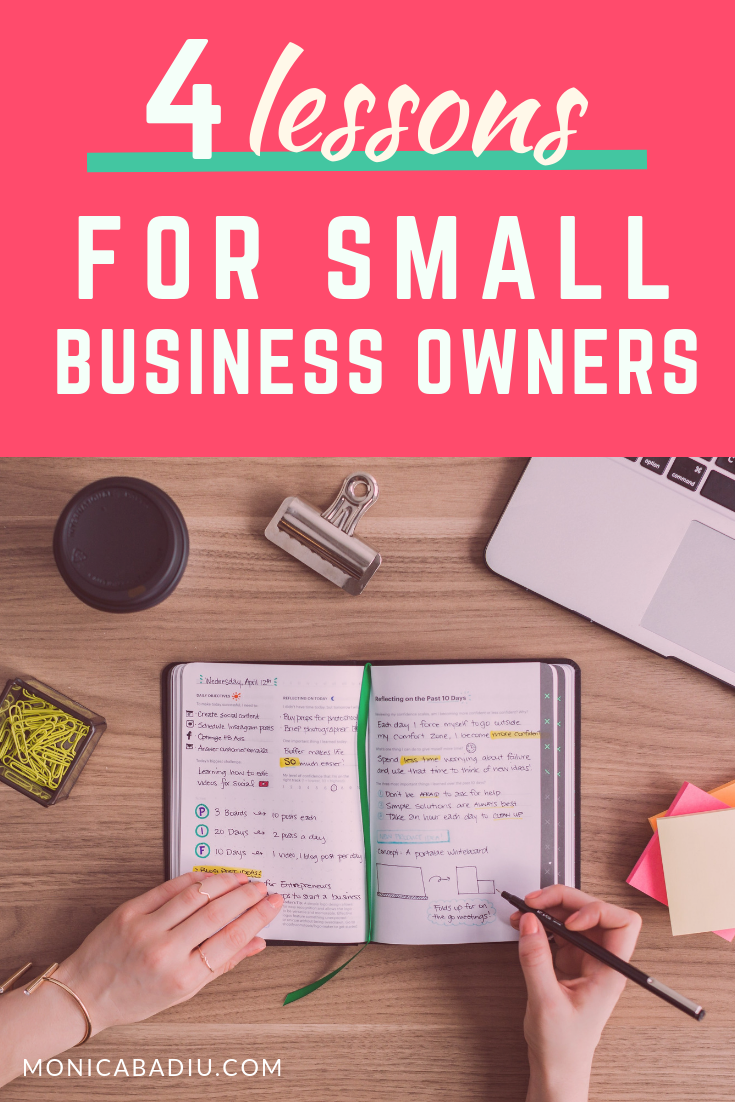 4 lessons for small business owners who want success #makingmoney #businesstips #entrepreneurship #smallbusiness #quotes #businessowner