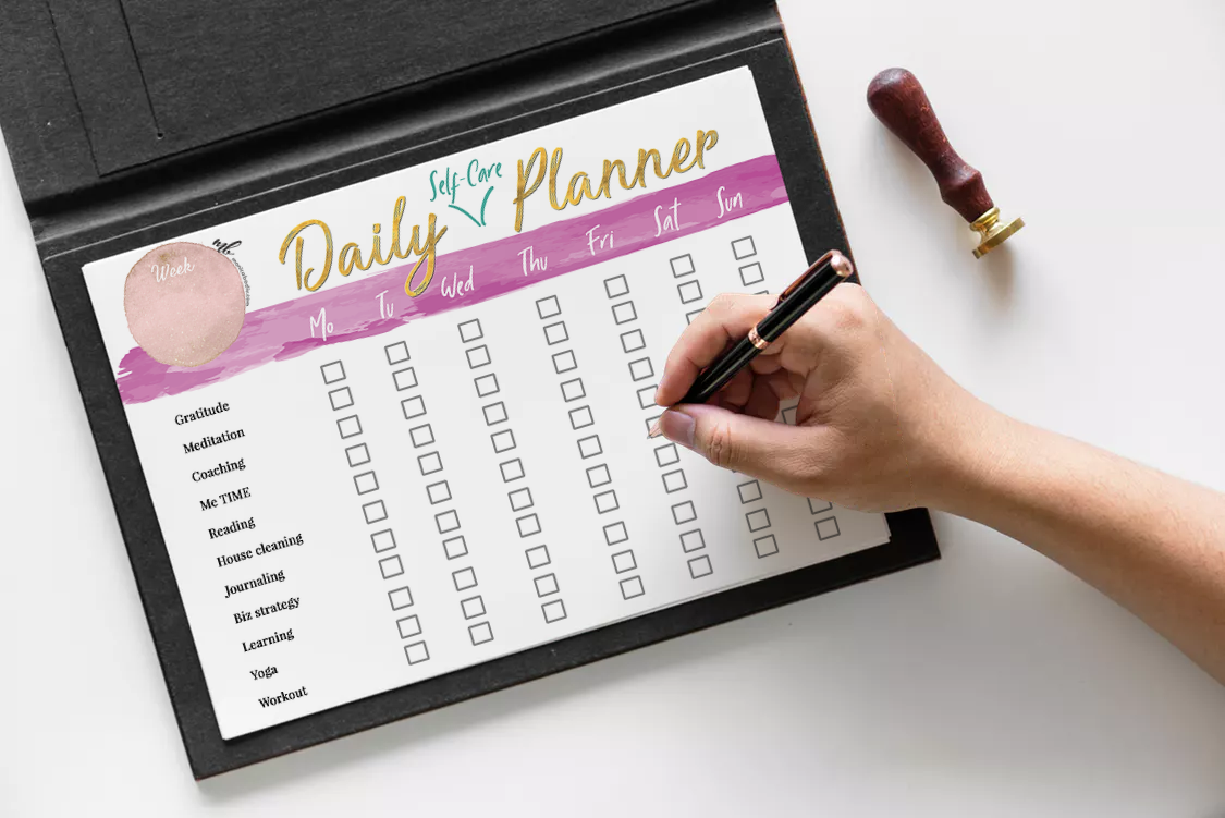 Get the free Daily Self Care Planner - Use this daily planner to organize your self care routine.
