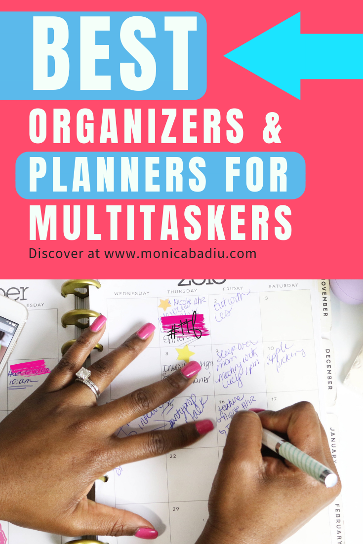Organizers and planners are tools that help us become aware of how we spend our time and what we work towards. If we are multitaskers, then we NEED one of these bad boys to help us stay committed to our goals & clear about what it is that we want to achieve. #planner #multitasking #entrepreneur #organization #planning