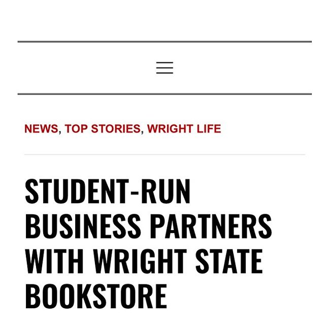Dream Chasing! 🙌🏾🏃🏾♂️ . . Check out the article below https://wsuguardian.com/2019/02/student-run-business-partners-with-wright-state-bookstore/  #WSU23 #WrightState