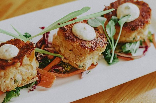 Introducing our new plate: Crab Cakes. 😋