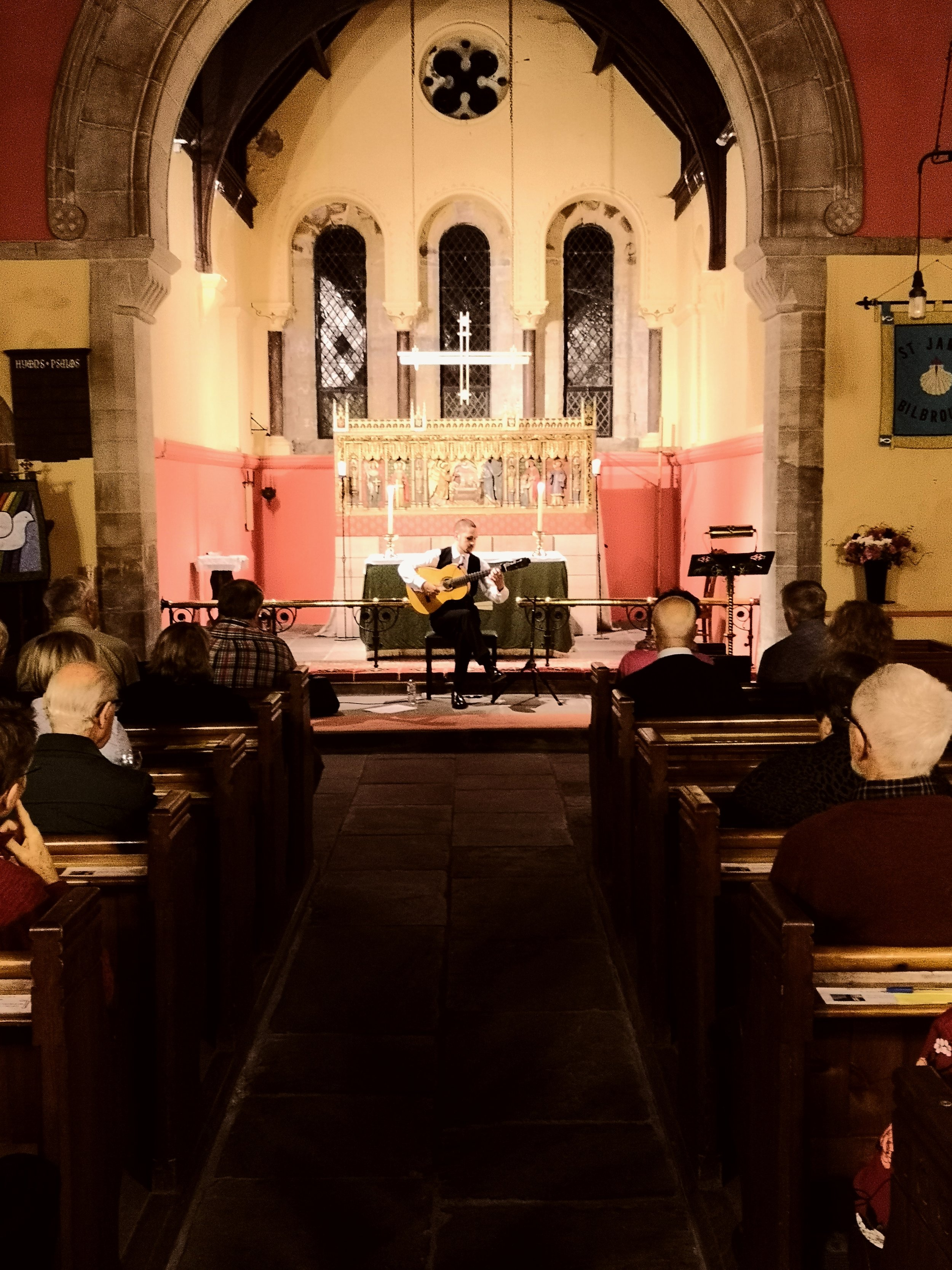 Samuel Moore live on Oct 12th in Saint James Church (Bilbrough)