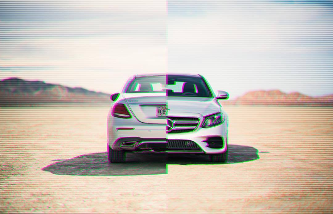 Split decision. It's back.   #mercedesbenz #e400 #elmirage #california #drylake #splitdecision #scanlines #instacars #carsofinstagram #desert #sunshine #funday #😳 #🔥 #💪🏽 #🌞🌞  (at El Mirage, California)