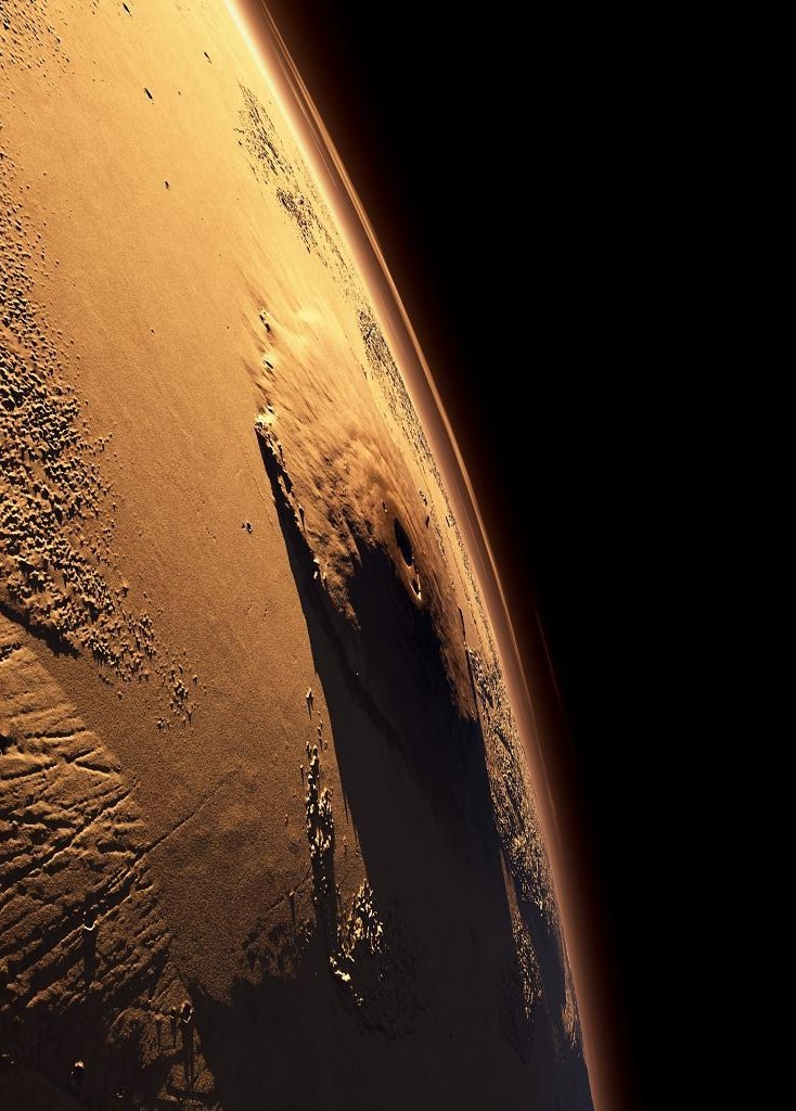 astronomyblog :     Olympus Mons in Mars