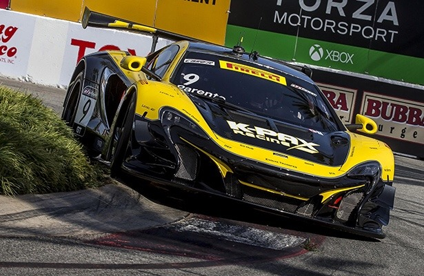 viper-motorsports :   Cutting it a touch close around the fountain, K-PAX Racing's N° 9  McLaren 650S GT3  outmaneuvered the competition to take pole position for the 2017  PWC Grand Prix at Long Beach .