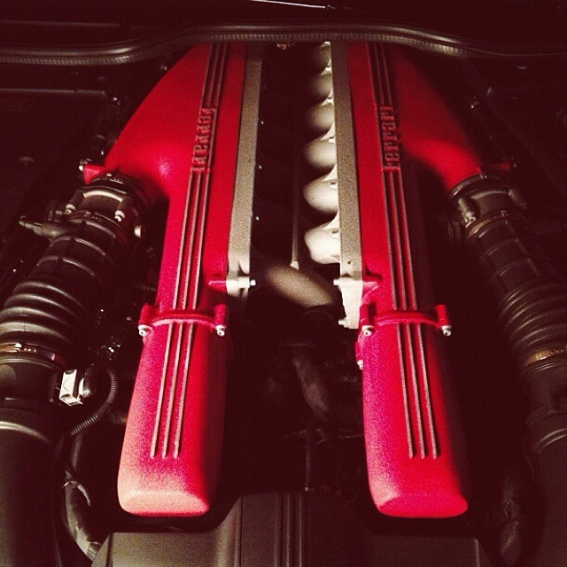 The beast that is the engine of the #ferrari #f12 #vscocam (at tm's icedsoul photography)