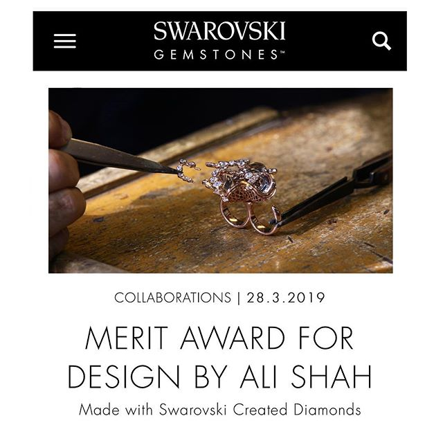 We would like to express our gratitude for Swarovski Gemstones editor's team for their excellent coverage of our Magical Moments ring, in their special article about, listed in Swarovski's website. We sincerely appreciate it. #swarovskicreateddiamonds  #swarovskigemvisions  #AliShahMM