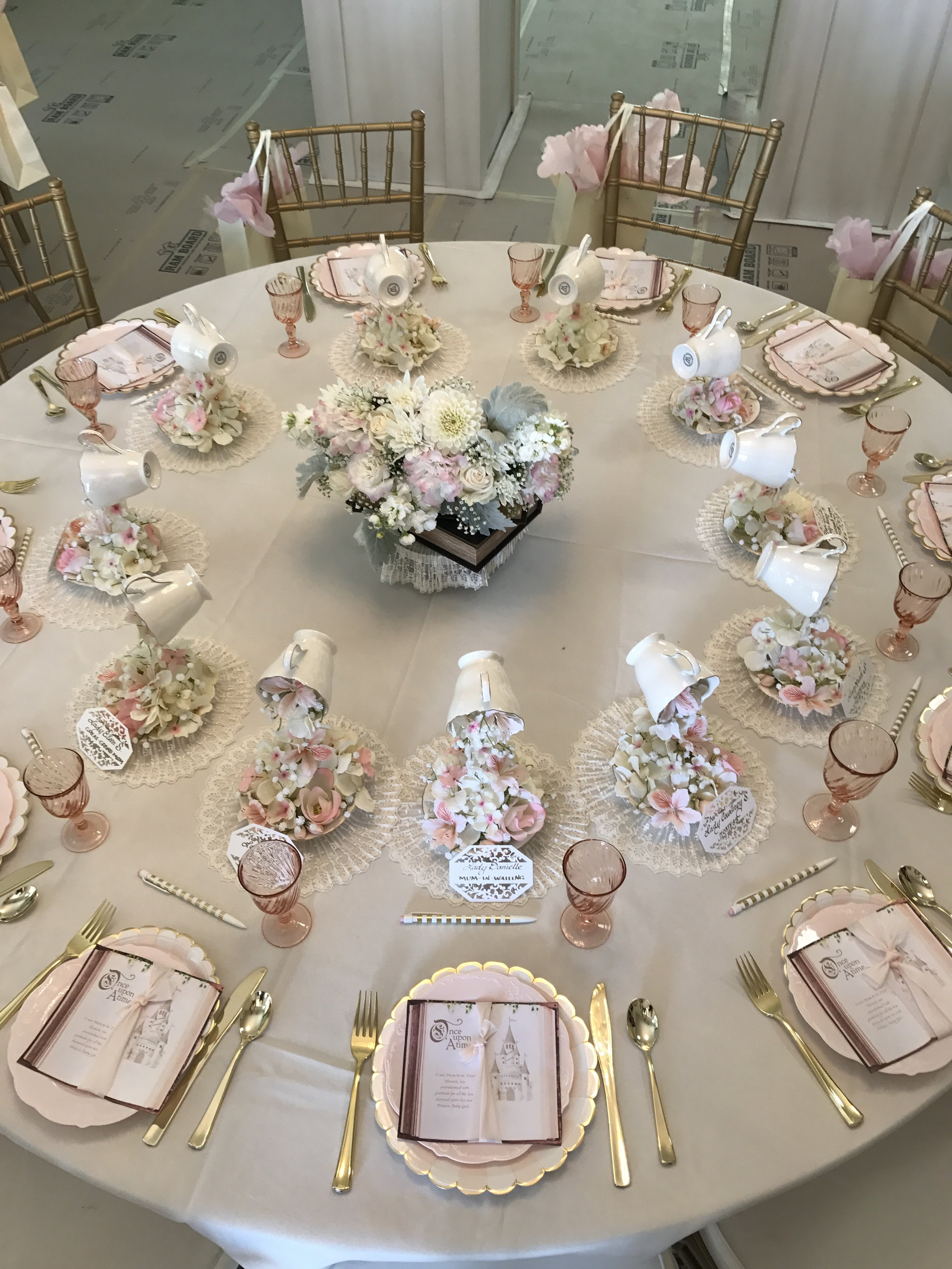 I mean come on that table setting is a rose-gold dream come true.