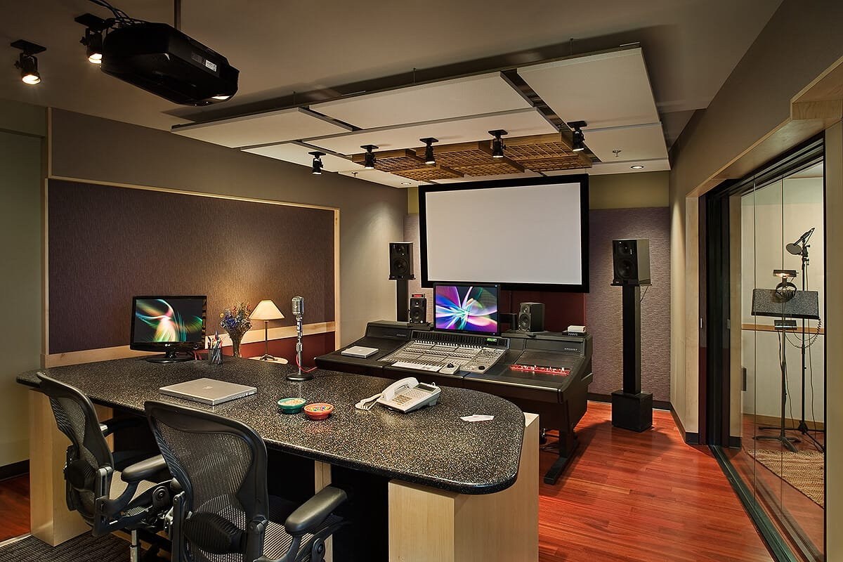 Studio D - Control Room + Booth