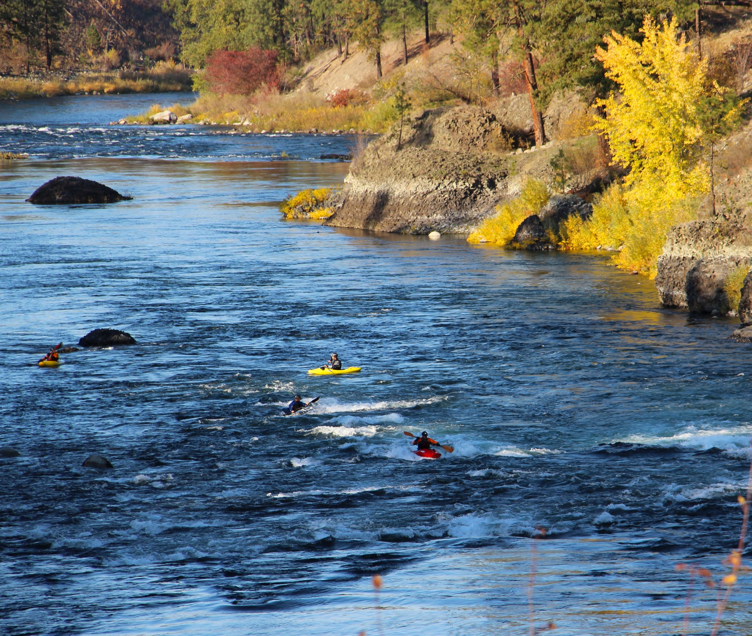 Portions of the Spokane River provide a great boating experience.