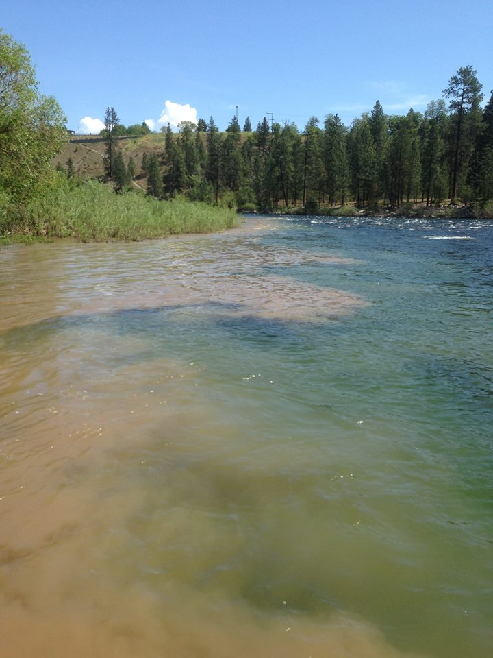Hangman Creek pollutes the Spokane River with sediment for much of the winter and spring.