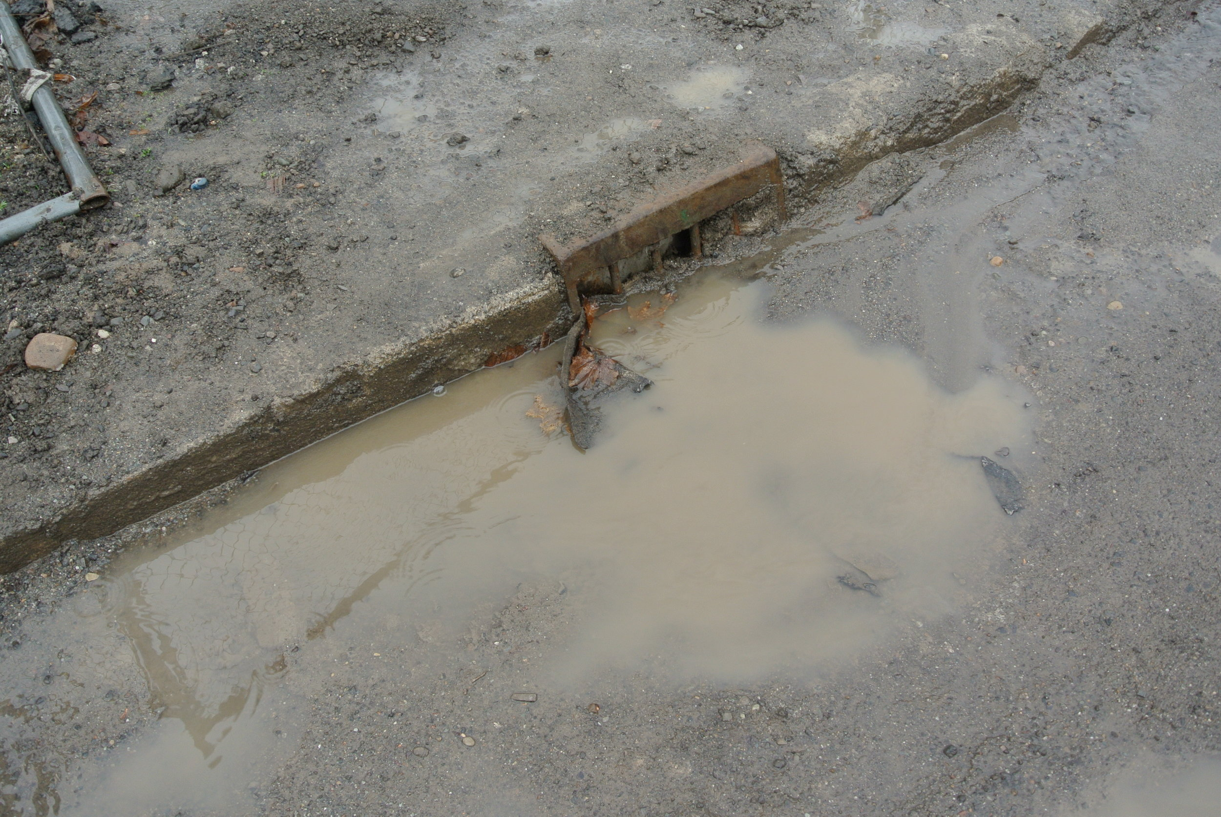 Excessively dirty water entering stormwater drain