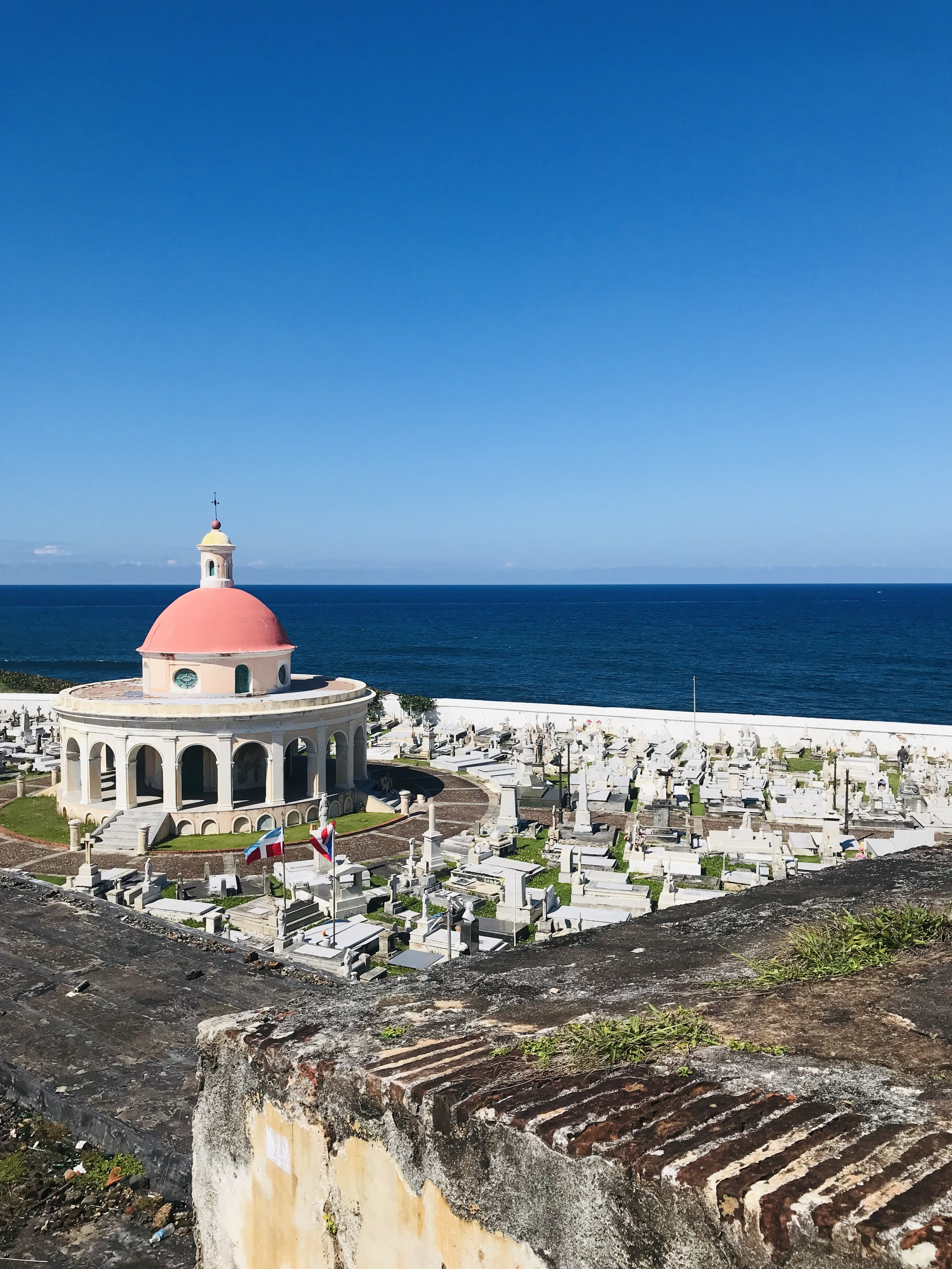 """- Also known as the """"forts"""" is a 16th century historical site with breathtaking views. The fortification, also referred to as el Morro or 'the promontory,' was designed to guard the entrance to the San Juan Bay, and defend the Spanish colonial port city of San Juan from seaborne enemies. (source: Wikipedia)"""