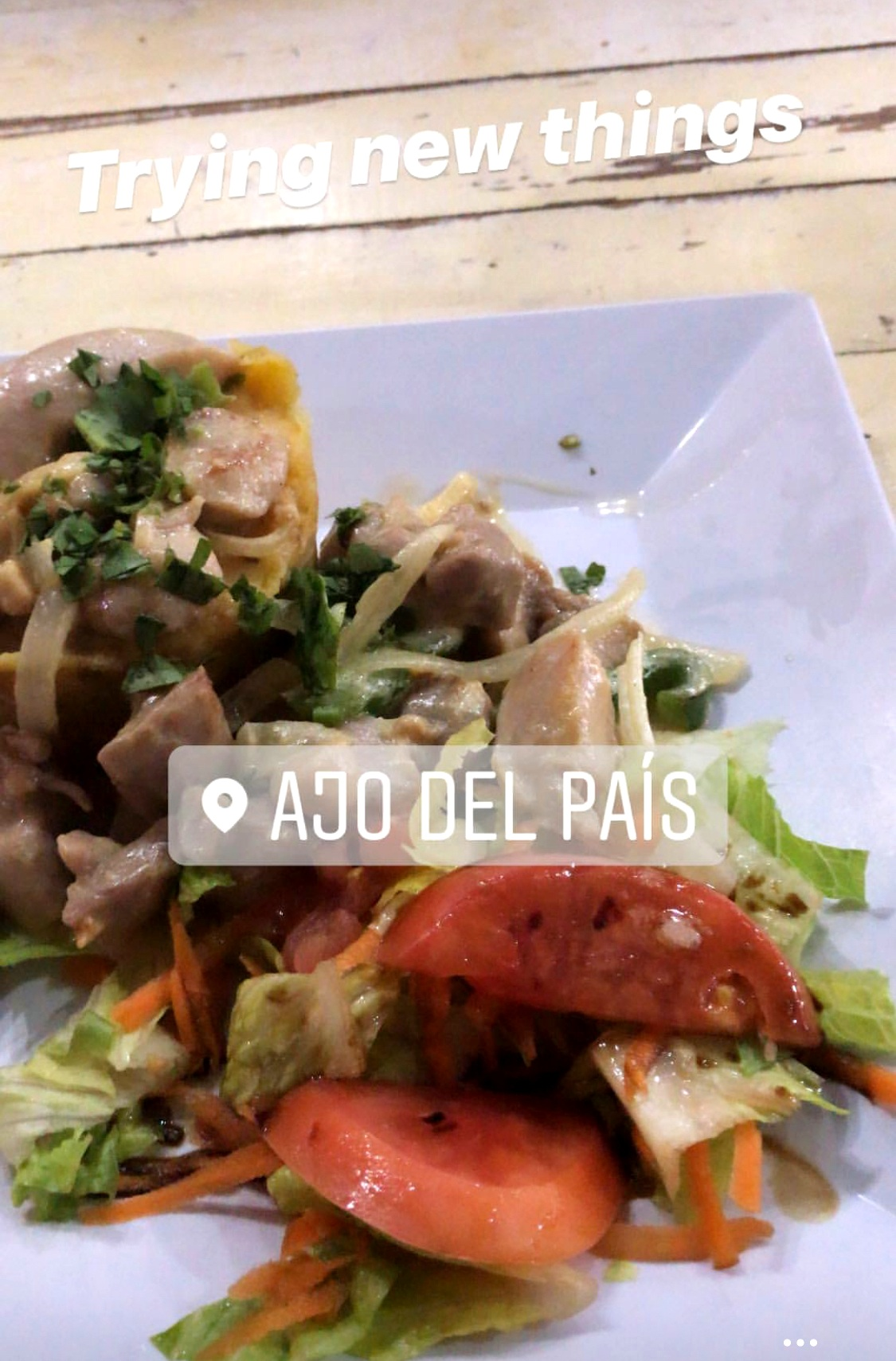 AJO DEL PAIS - I went here on a day where I was site seeing in Old San Juan and wanted to grab some food before I fainted from hunger. I tried a dish called Mofongo which is a Puerto Rican dish with fried plantains as its main ingredient. It wasn't my favorite only because it was very dense and heavy but I am glad that I tried it!