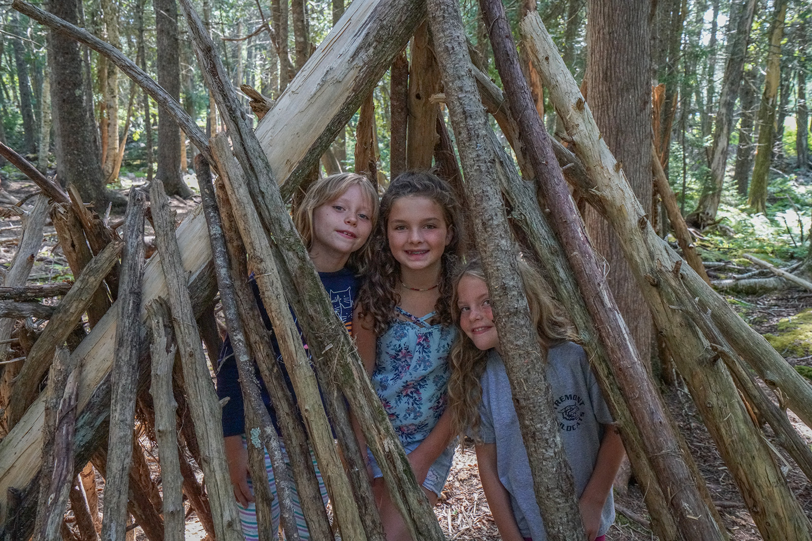 By our count, campers constructed 46 forts of various sizes and configurations this summer.