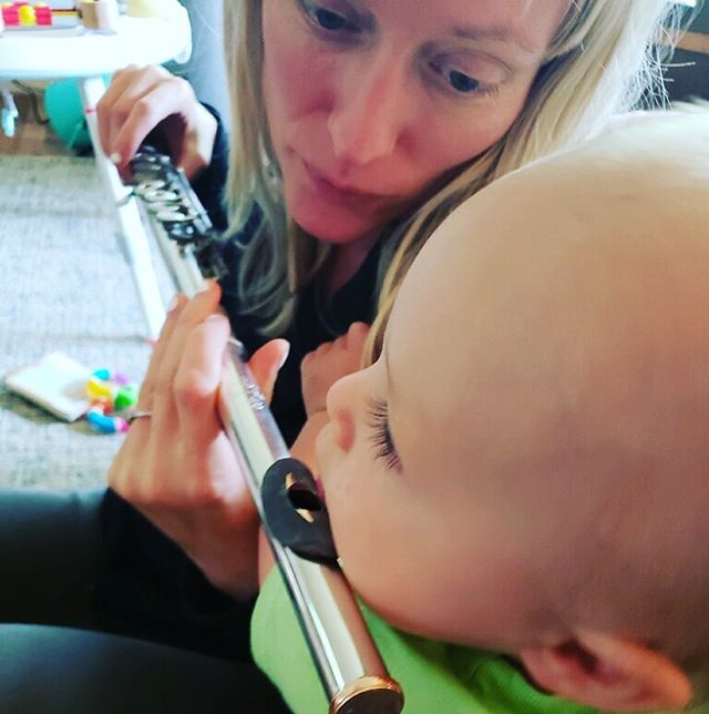 My little flute player. #momlife