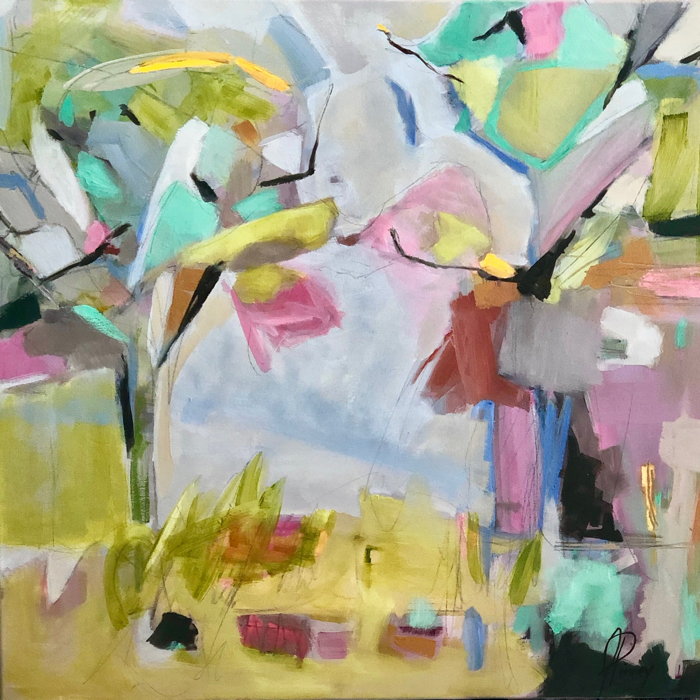 Between Two Trees 24 X 24 mixed media on canvas $1100 copy.jpeg