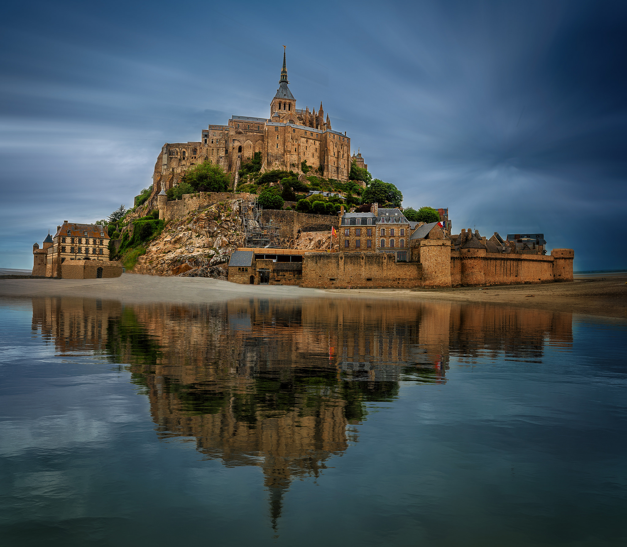 Mont-Saint-Michel -- Reflections