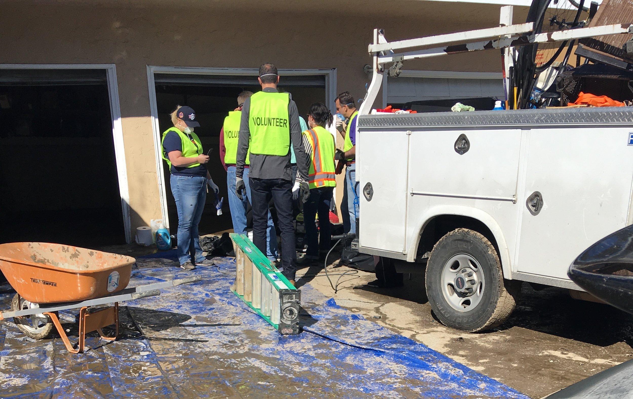 Matt Mahood Sam Liccardo Magdalena Carrasco San Jose Flood Volunteering