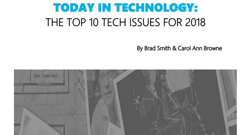 Microsoft Top Tech Issues for 2018