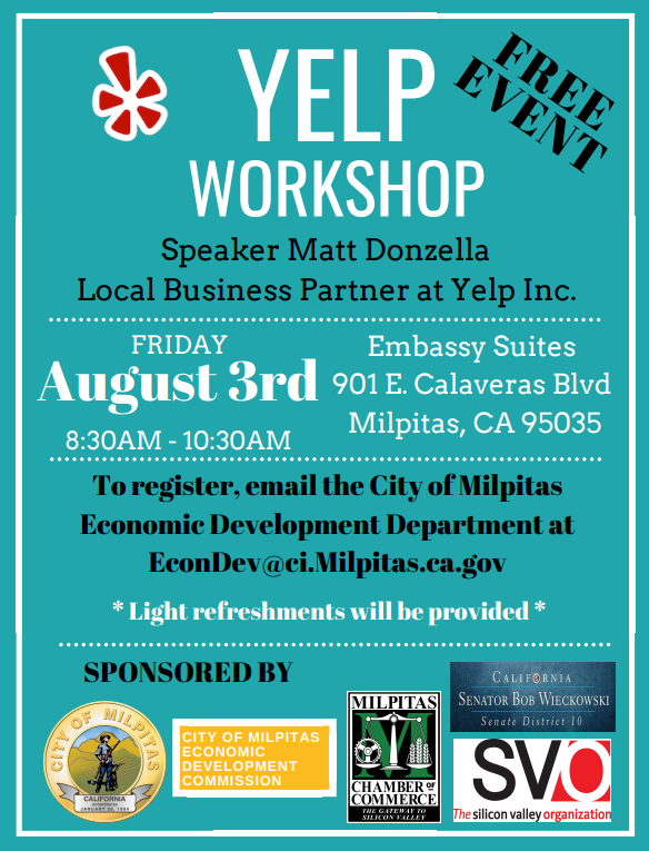City of Milpitas Yelp Workshop