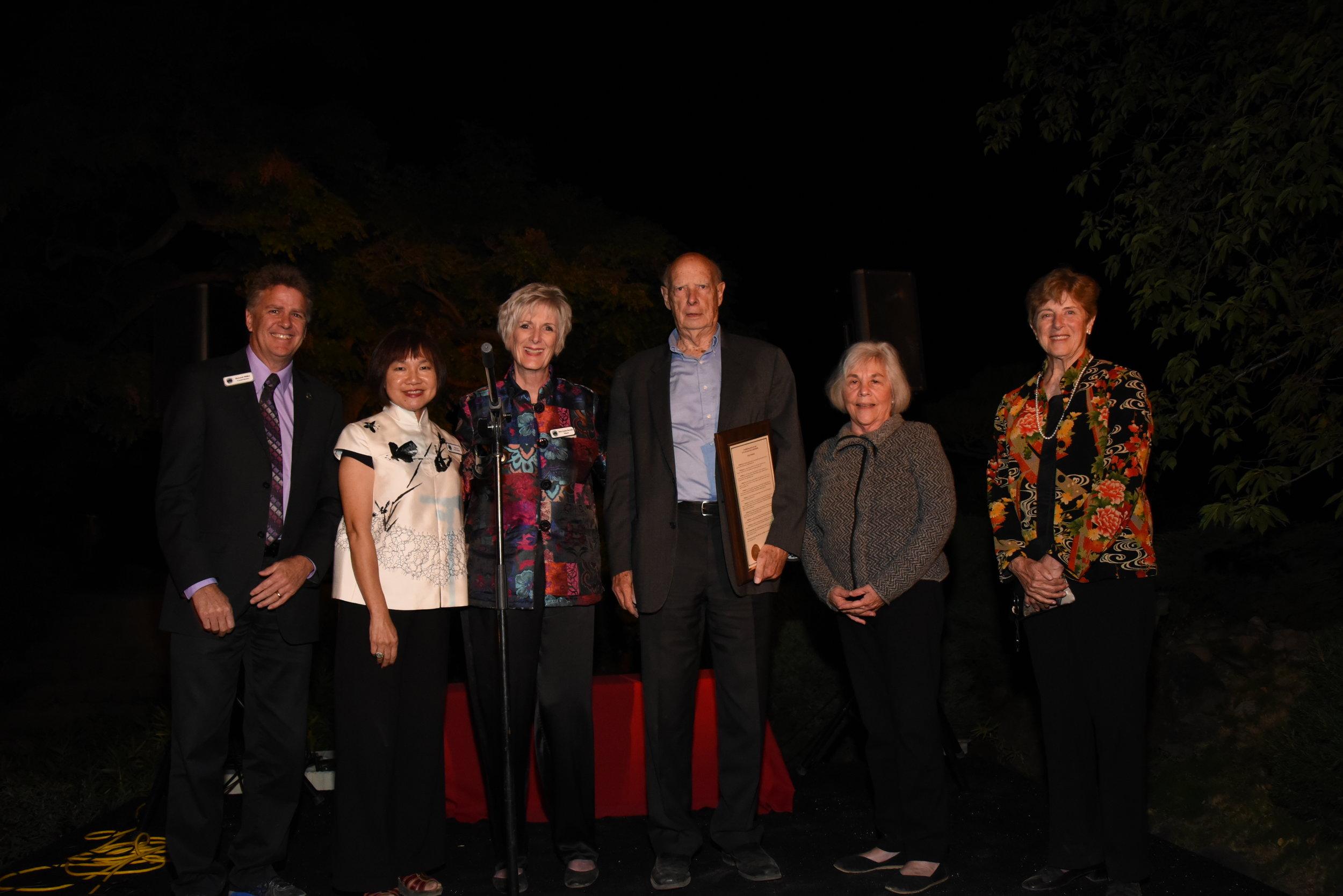 Cole Wilbur with City Council and Ann Waltonsmith-09162018.JPG