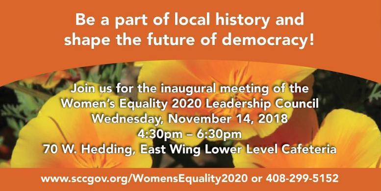 County of Santa Clara Board of Supervisors Women's Equality 2020 Leadership Council