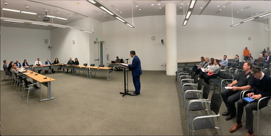 EDDIE TRUONG, DIRECTOR OF GOVERNMENT & COMMUNITY RELATIONS AT THE SVO, SPEAKING TO THE SAN JOSÉ CITY COUNCIL RULES COMMITTEE ON WEDNESDAY, JANUARY 30, 2019.