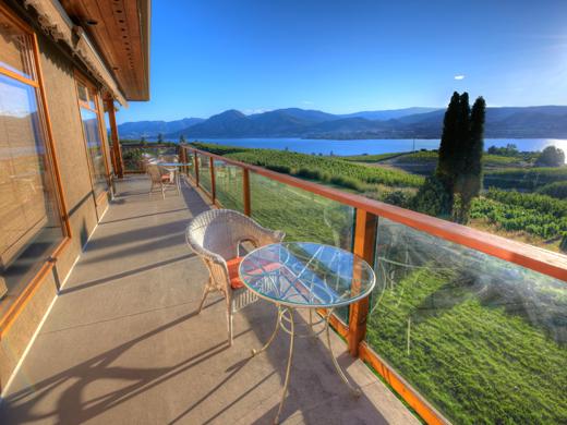 Each room has a deck or patio