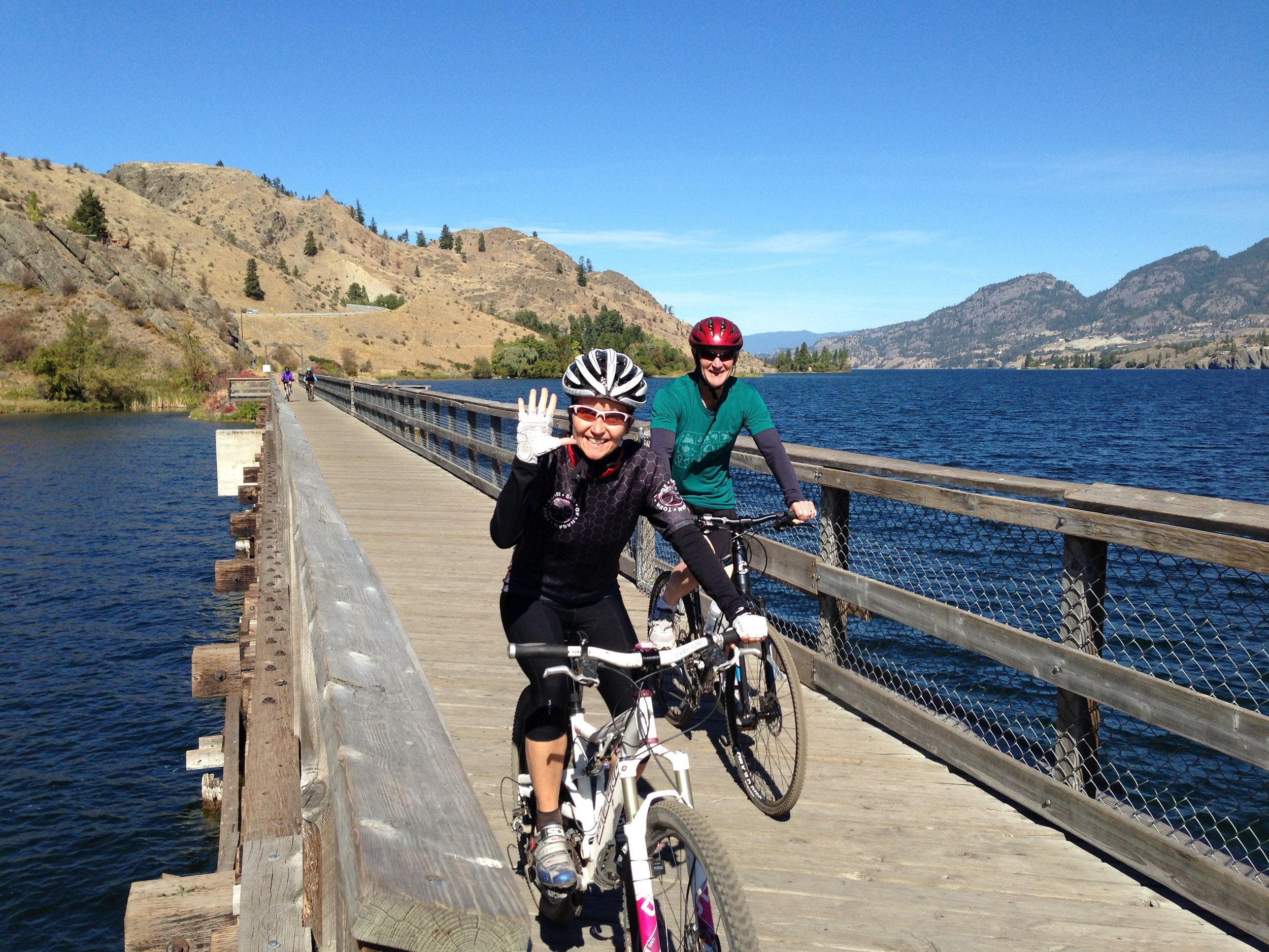 The Okanagan offers...   incredible cycling  Learn More