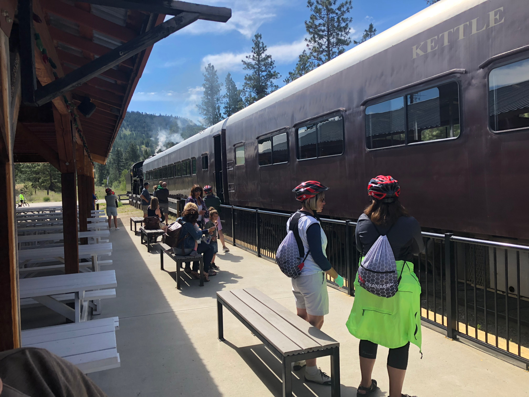 All aboard the Kettle Valley Steam Train