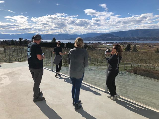 A perfect end to our first tour of the season...a visit to @tantaluswine with @tourismkelowna. #agritourism #explorebc