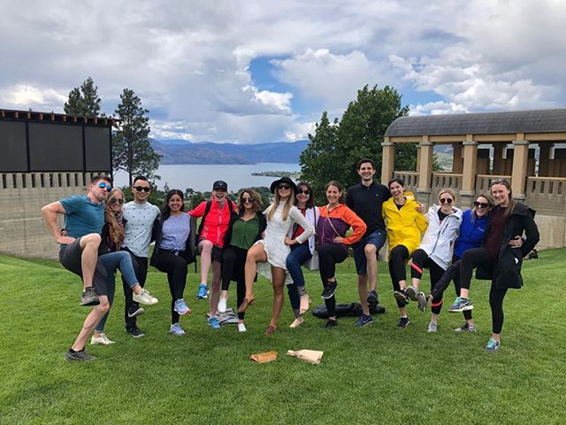 Thanks Trina and company for a great day in West Kelowna. Best wishes for tomorrow from the Giro gang! #bikingbride #westkelownawinetrail #jeffandtina