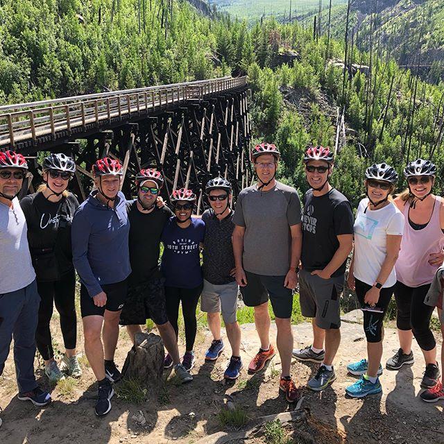 Another fabulous day cycling #myracanyontrestles with a great group! #okanaganexploring #explorekelowna #explorebc #giroheroes