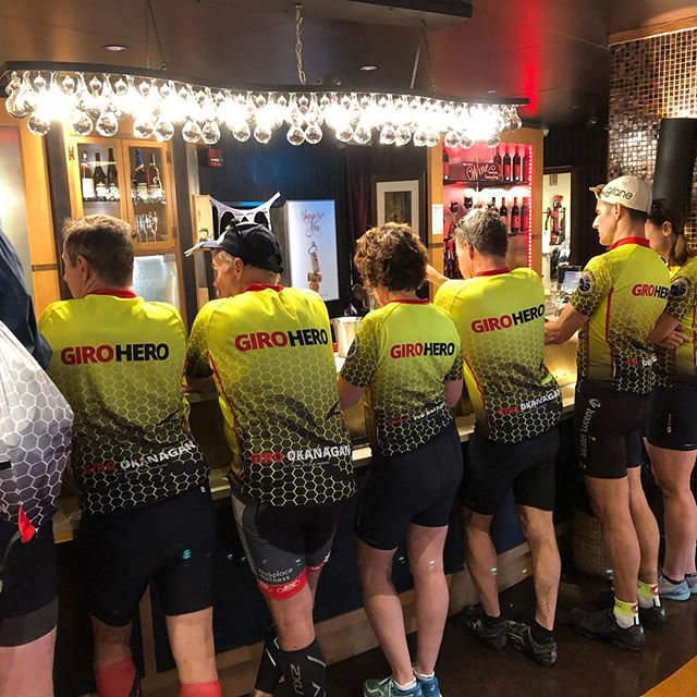 First - ride. Then - taste. The order is important. #giroheroes at @dirtylaundryvineyard. #bottleneckdrive #okanaganexploring #okanaganexplorers