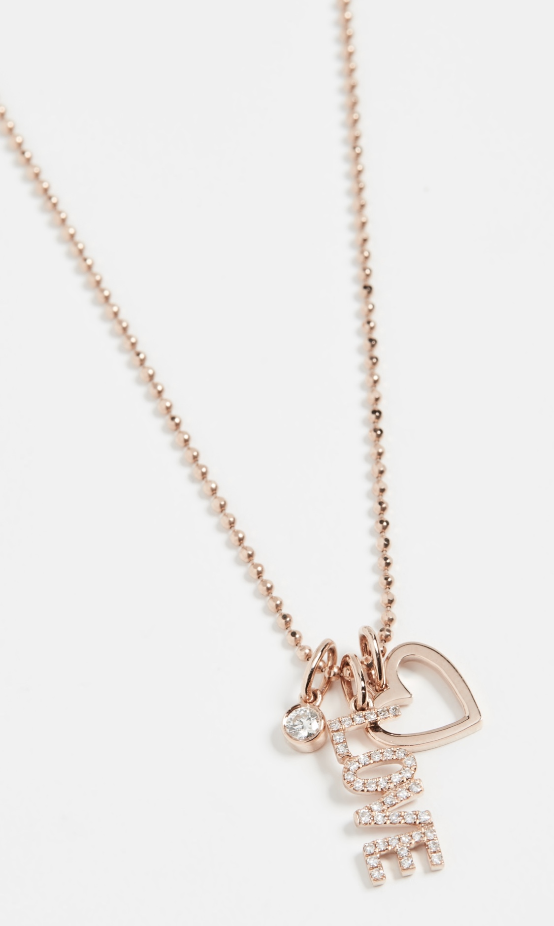 EF Collection 14k Diamond Love Charm Necklace $1,295