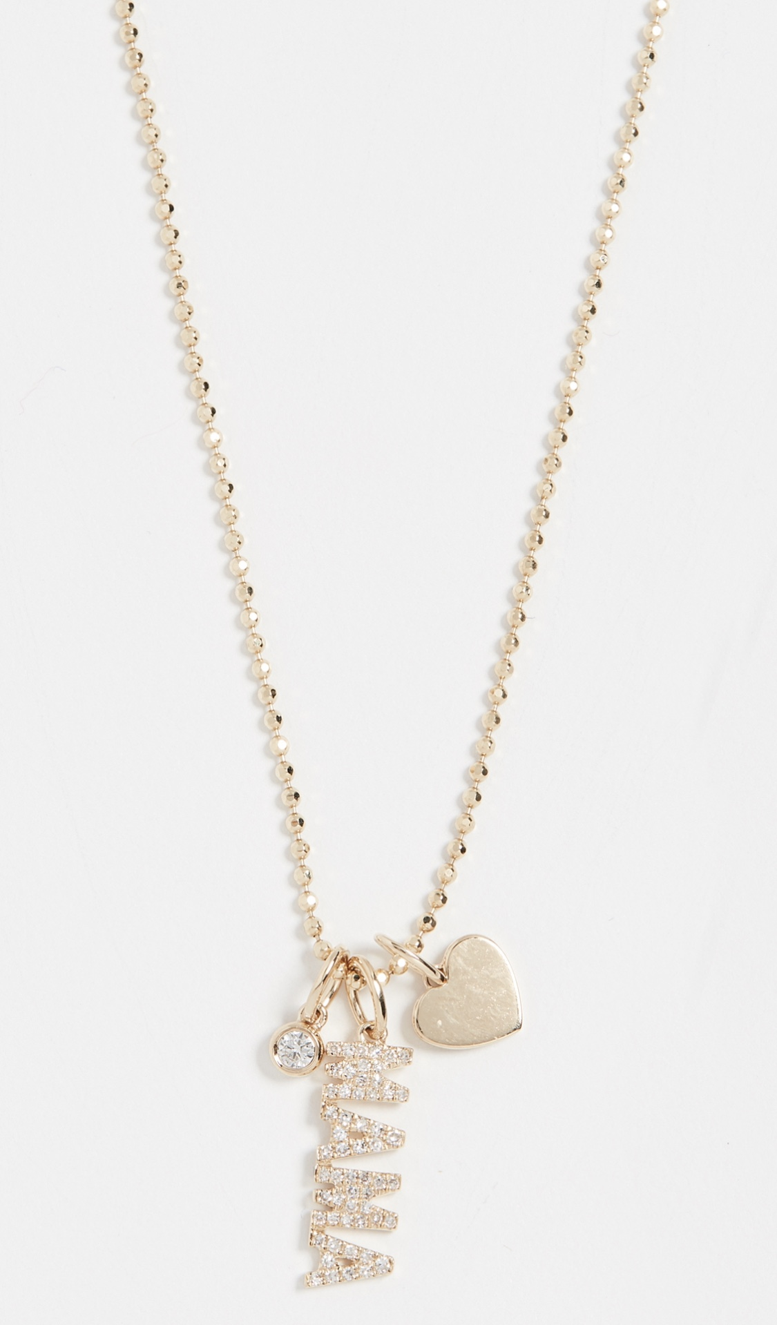 EF Collection 14k Diamond Mama Charm Necklace $1,350