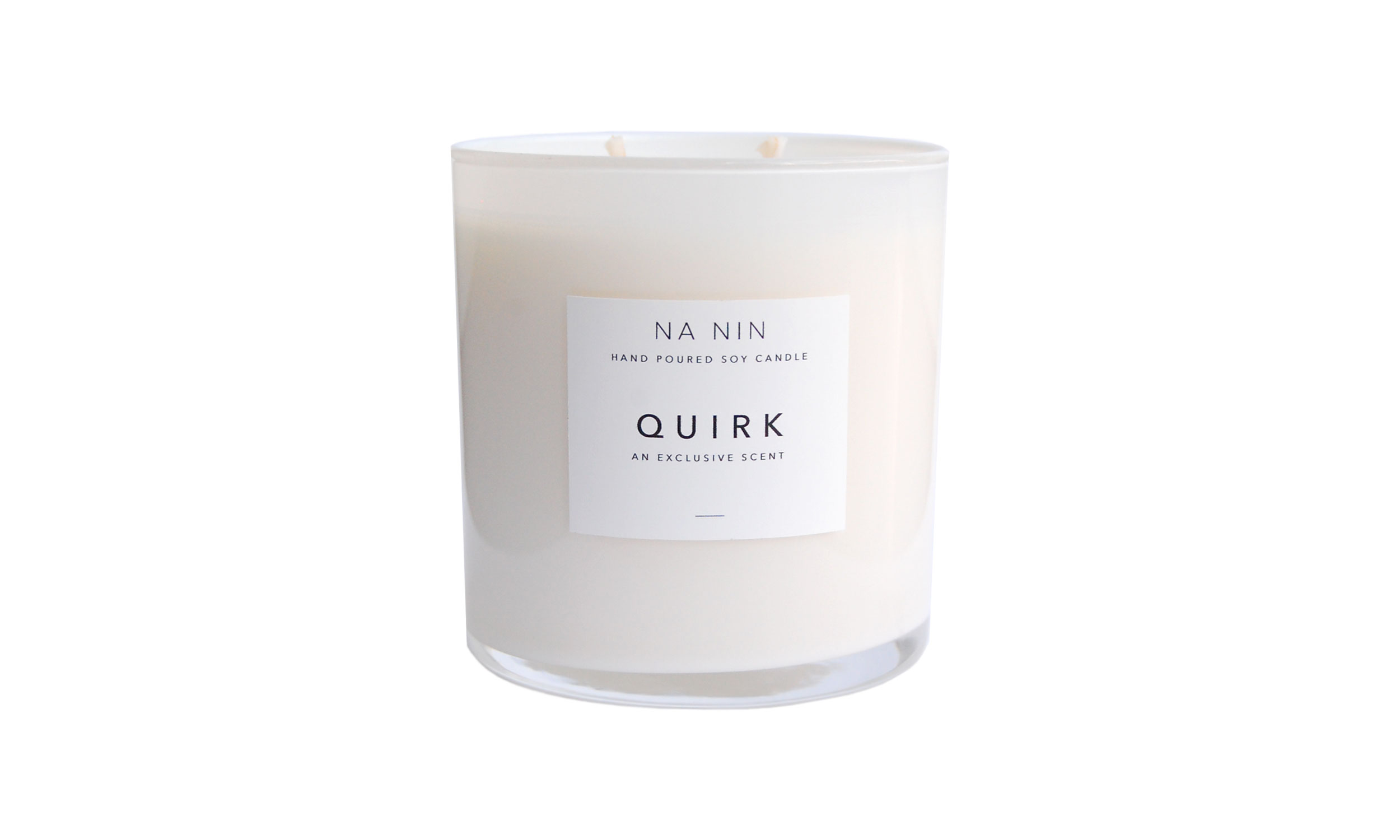 Quirk Hand Poured Soy Candle,  Exclusively from Na Nin , $32    Contact us for purchase