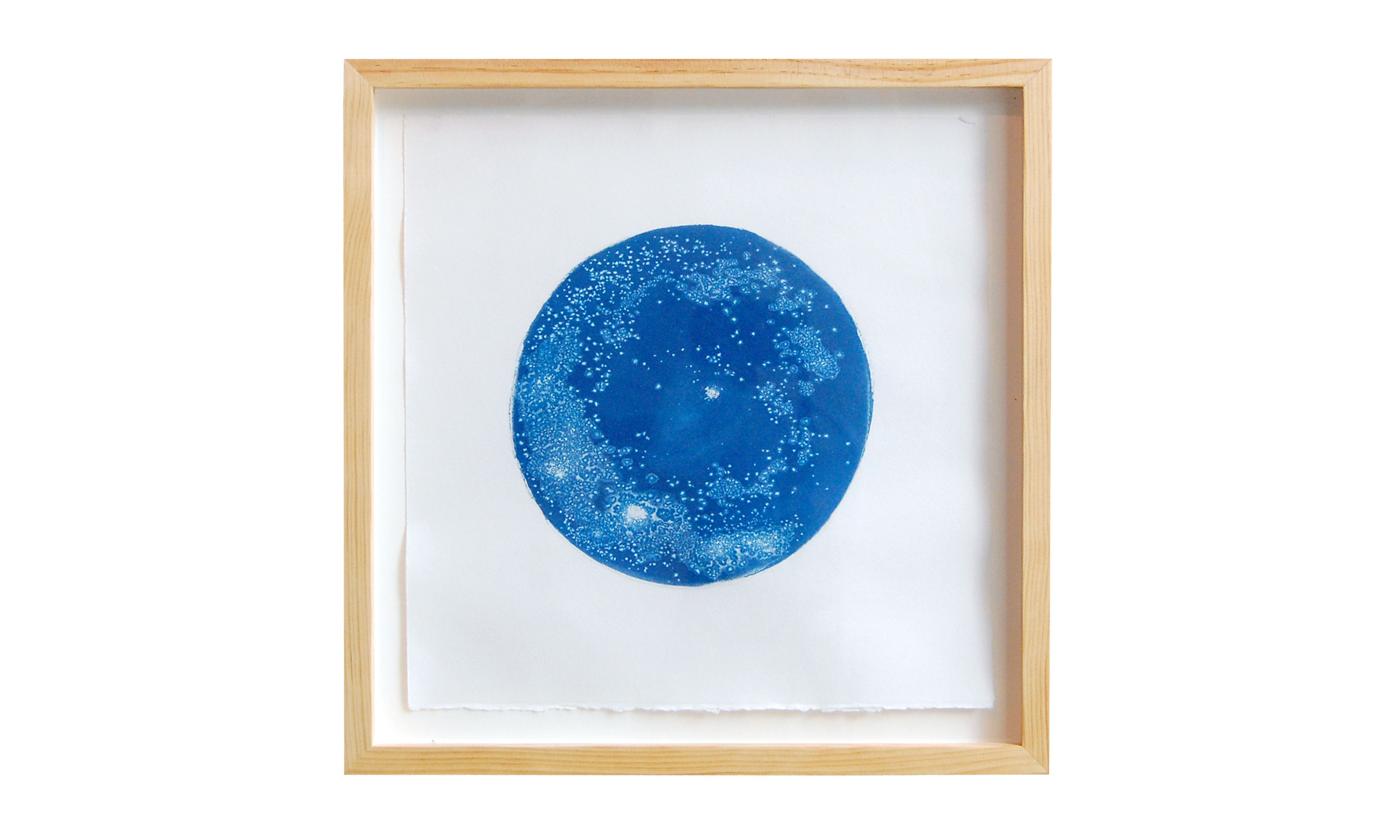 """The Galaxy in a Tear , cyanotype, 18"""" x 18"""", $850    Contact us for purchase"""