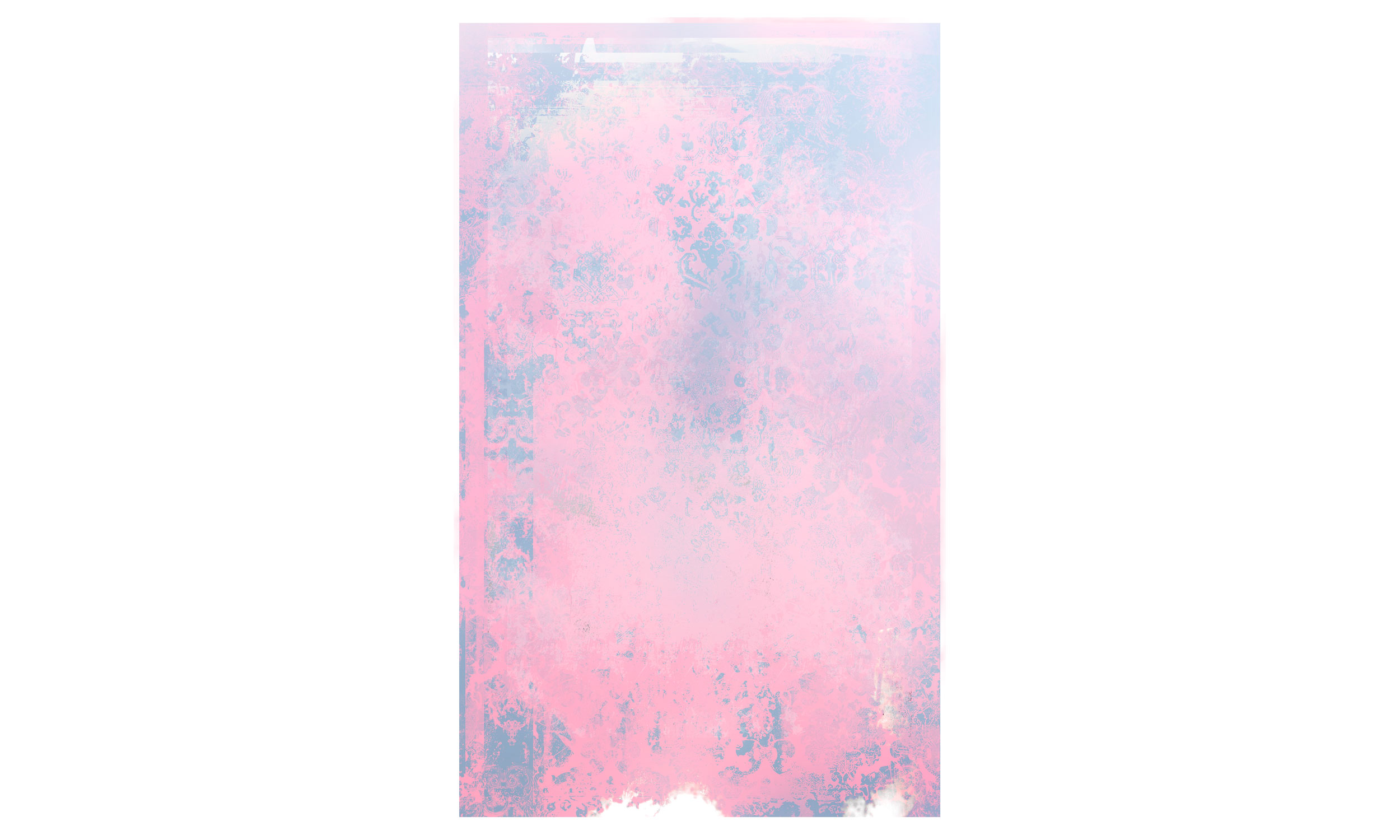 """Composition 1075, ink jet ultra chrome, spray paint, acrylic on archival paper, 44"""" x 72"""", $2000    Contact us for purchase"""