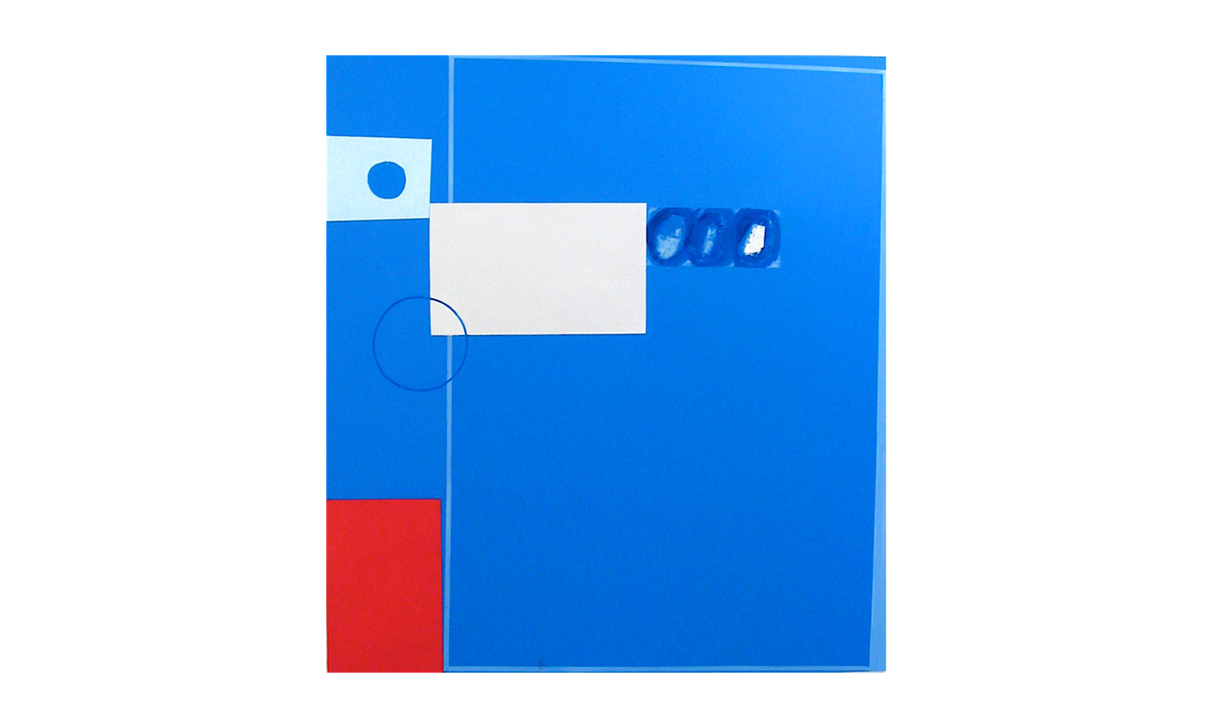"""Blue Wedge,  mixed media on panel, 54"""" x 48"""", $3500    Contact us for purchase"""