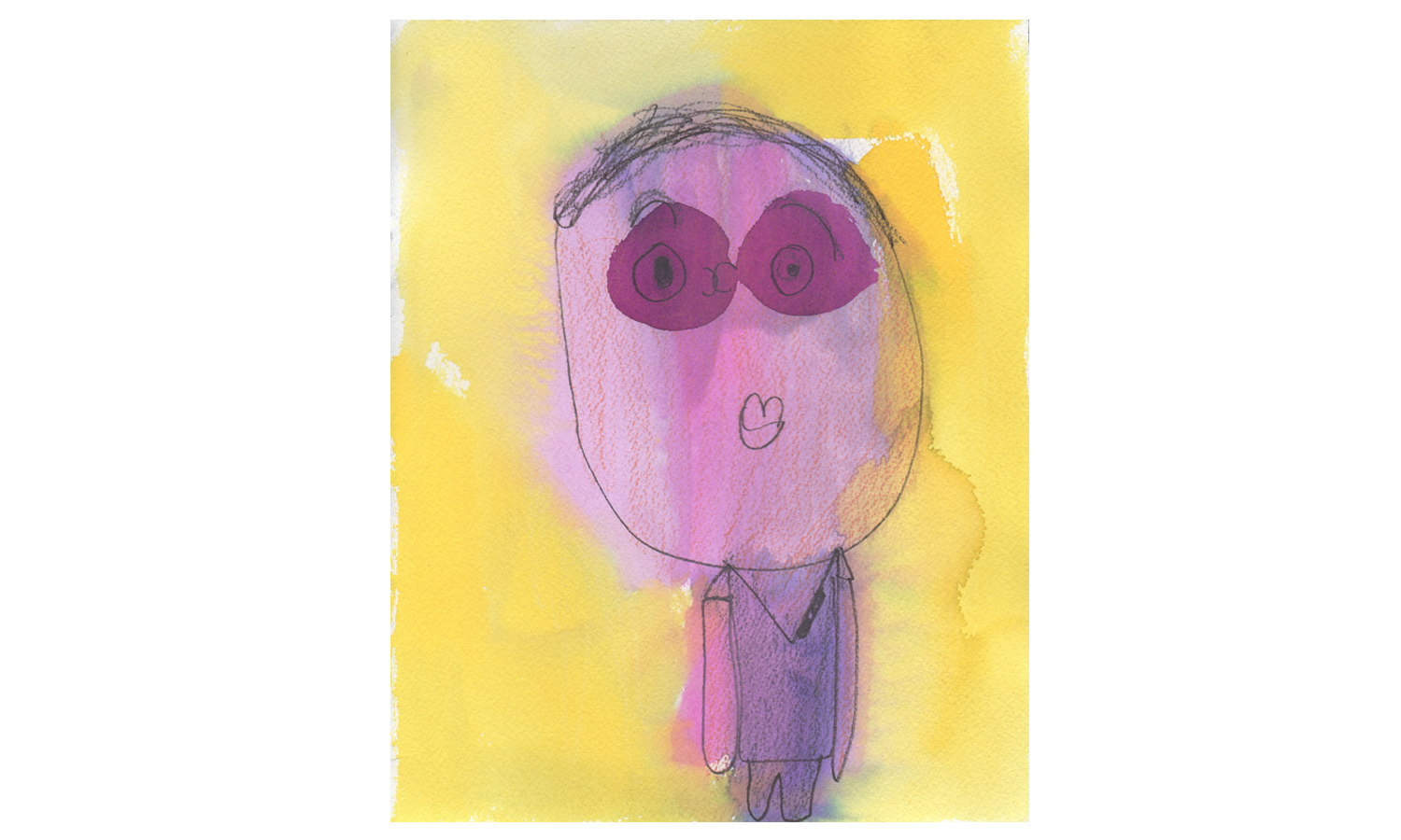"Ruthie  (by Andrea Budu-inspire), watercolor on paper, 8x10"", $80 (SOLD)"