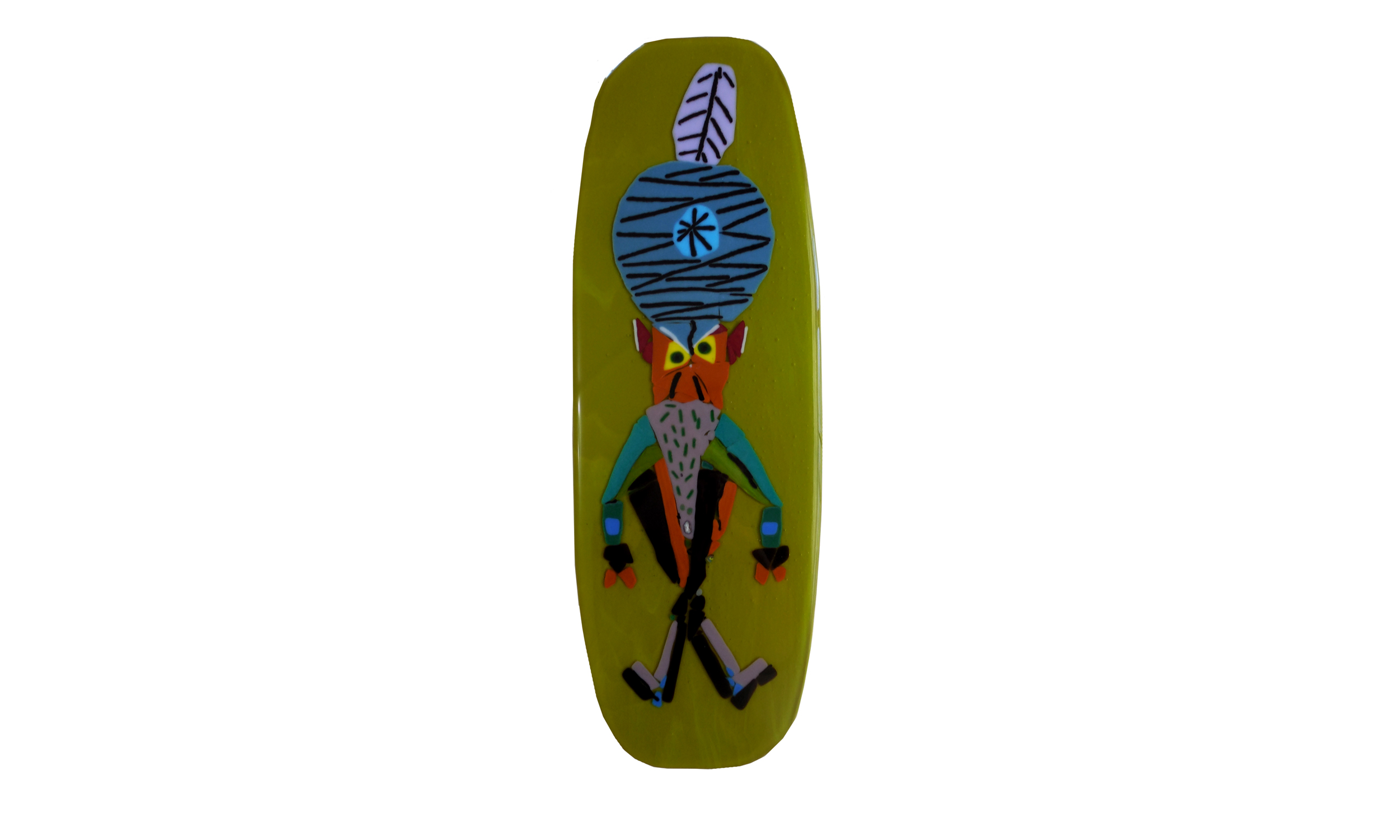 Twofoot Guy: Untitled  (by Mark Trezise), fused glass, $350    Contact us for purchase