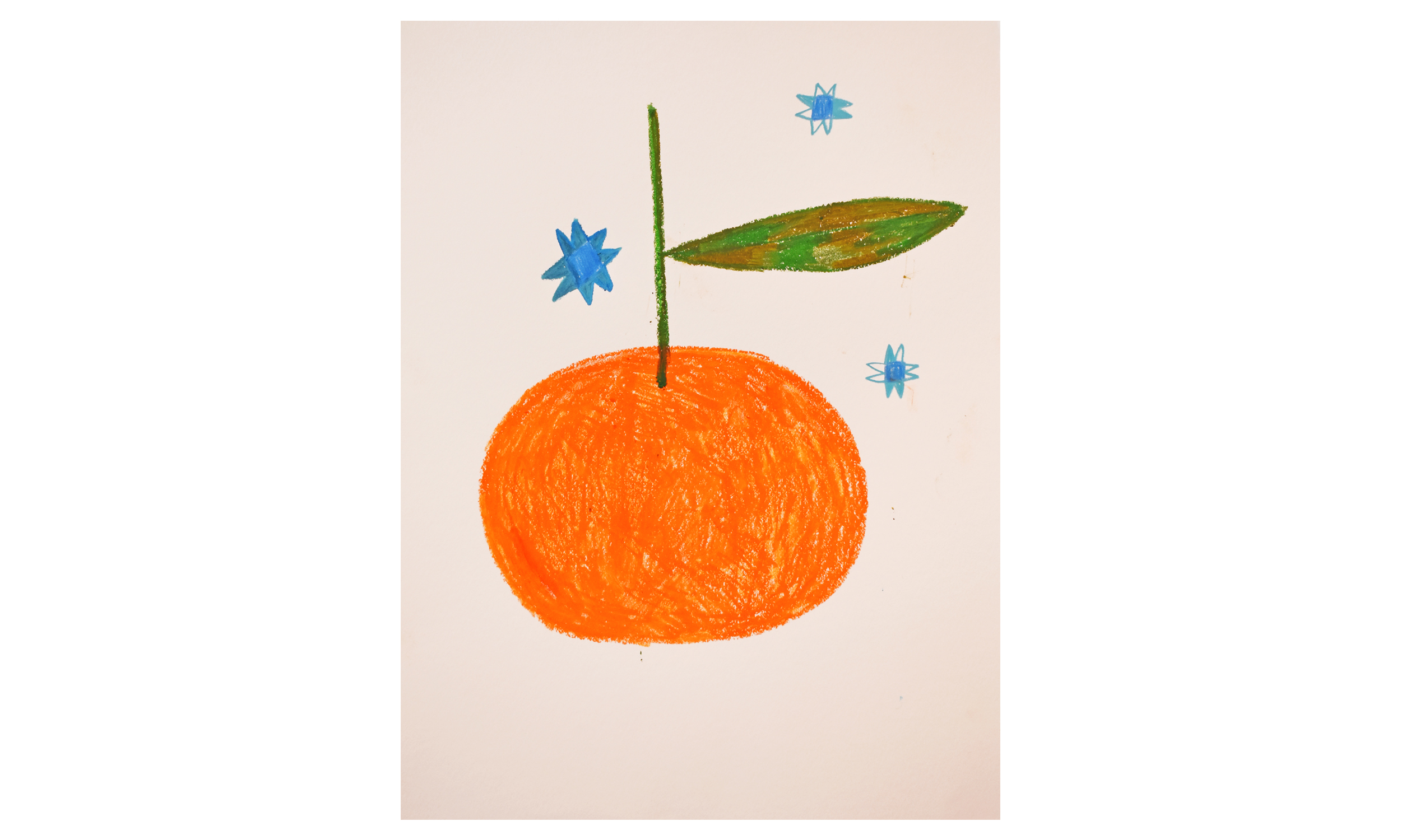 A Clementine Among The Stars , crayon on paper, 18 x 24 inches, $175    Contact us for purchase